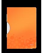 Klämmapp LEITZ ColorClip WOW PP Plast A4, 30ark, orange