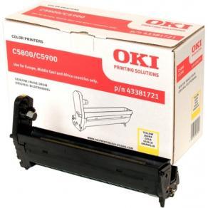 OKI - Gul - valsenhet - för C5550 MFP, 5800dn,