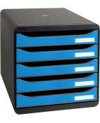 Box Cleansafe 5lådor svart/blå