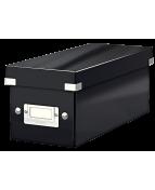 Förvaringslåda CD Click & Store Svart, 143x136x352mm