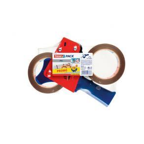 Packtejpshållare TESA + 2st packtejp brun, 50mm