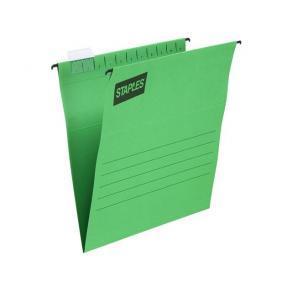 Hängmappar STAPLES A4 grön