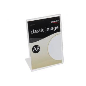 Informationsställ acryl A8 lutande