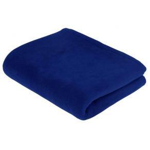 Vilset kudde och filt blå
