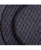 Arbetsplatsmatta Yoga Fashion 87x145cm svart
