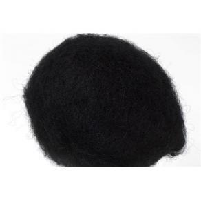 Kardad ull 250g svart