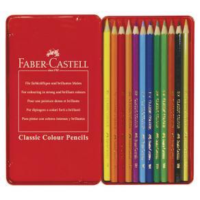 Färgpenna Faber-Castell Classic, 12 färger