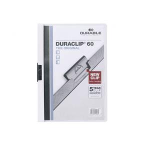 Klämmapp DURABLE Duraclip A4 Vit, 60 blad, 25st