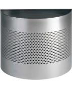 Papperskorg metall 20l. silver