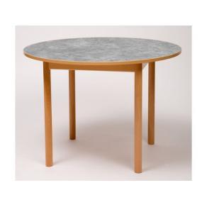 Tapiflexbord rund 120cm h. 72cm lj.grå