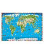 Världskarta för barn