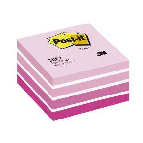 Post-It Kub Fresh Pink, 76x76mm, 450 blad