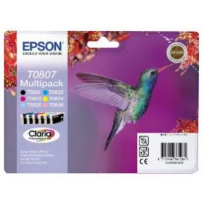 Epson T0807 Multipack - 44.4 ml - svart, gul,