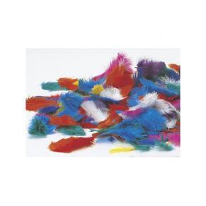 Påskfjädrar, blandade färger, 200/fp