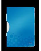 Klämmapp LEITZ ColorClip WOW PP Plast A4, 30ark, blå