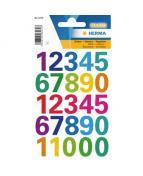 Herma etikett siffror 0-9 20mm ass färger (1)