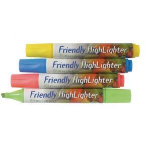 Överstrykningspenna FRIENDLY, 1-4mm, 4 färger/fp