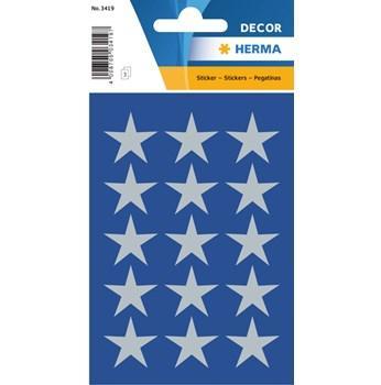 Herma stickers Decor stjärna silver (3) 10st