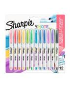 Sharpie S-Note Chisel 12-Blister, Ass.colors