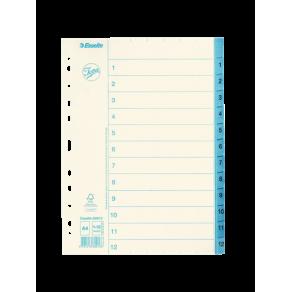 Pärmregister JOPA Papper A4 1-12, blå flik