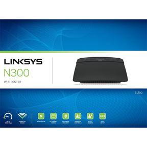 Linksys E1200 - Trådlös router - 4-ports-switch