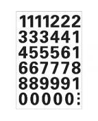 Herma etikett siffror 0-9 15mm svart