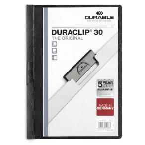 Klämmapp DURABLE Duraclip A4 Svart, 30 blad