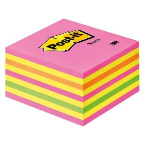 Post-It Kub Intensive Pink, 76x76mm, 450 blad