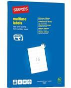 Etikett STAPLES 105x37mm 1600/FP