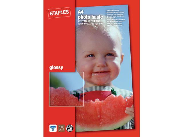 Fotopapper STAPLES Bas 10x15 gloss 50/FP