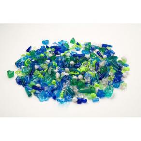 Plastpärlor Mix Blå/Grön, 1000/fp