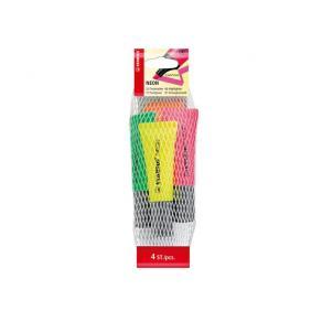 Överstrykningspenna STABILO Neon, 4-pack