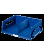 Brevkorg Leitz Sorty A4 liggande blå