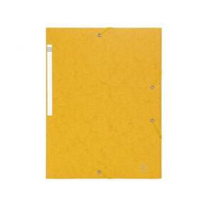 Gummibandsmapp 3-klaff A4 600g gul