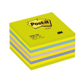 Post-It Kub Intensive Green, 76x76mm, 450 blad