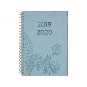 Kalender 19-20 Study A5 Twist, blå