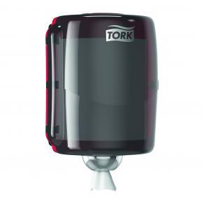 Dispenser Industritork TORK Maxi W2, röd/svart
