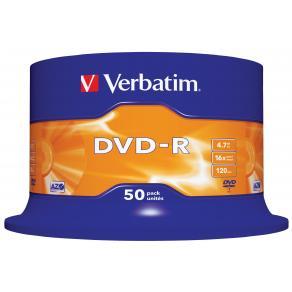 DVD-R Verbatim Cakebox, 4,7Gb, 50/fp