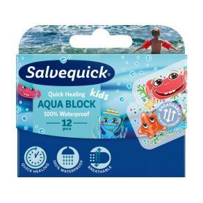 Plåster Salvequick Aqua Block Kids 12/FP