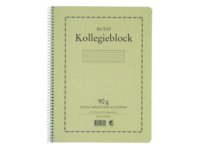 Kollegieblock A4, rutat, 90g, 5st 5st