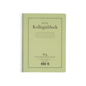 Kollegieblock A4, rutat, 90g, 5st