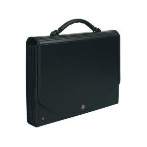 Hemarkiv Portfölj EXACOMPTA Exacase PP-plast A4, 13 fickor, 400ark, svart