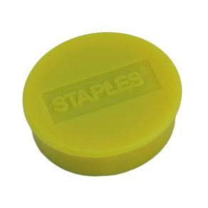 Magnetknappar STAPLES 25mm gul 10/FP