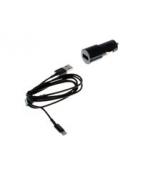 Insmat - Strömadapter för bil - 2.4 A (USB) - svart - för Apple
