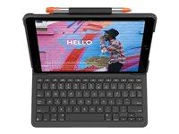 Logitech Slim Folio - Tangentbord och foliefodral - Bluetooth