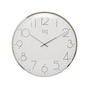 Väggur TIQ 30cm silver