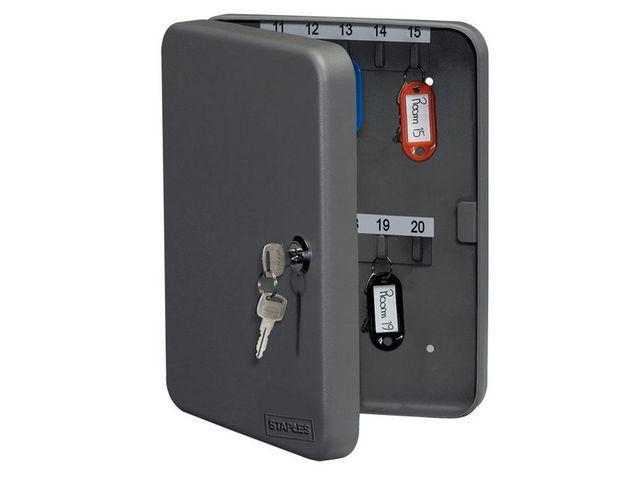 Nyckelskåp STAPLES 250x190x45mm grå 42n