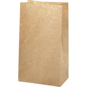 Papperspåse 3.5L brun 27x15x9cm, 100/fp