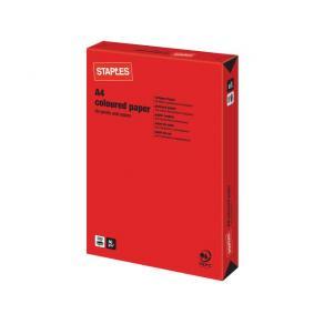 Kopieringspapper Röd A4, 80g, 500/bunt