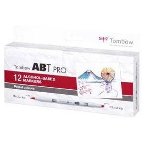 Tombow alkohol märkpenna ABT PRO Dual Brush 12P-2 pastel (12